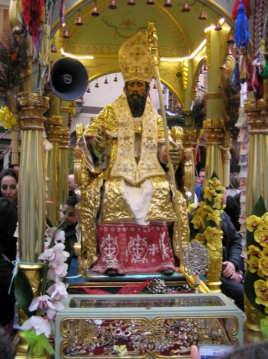 San Leone of Longi in all of his baroque glory. Photo by Rochelle Del Borrello