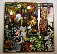 Vucciria markets as depicted by Guttuso. Taken from Google images.