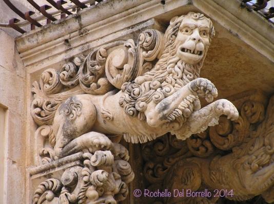 Detail of Palazzo Nicolaci, Noto Syracuse