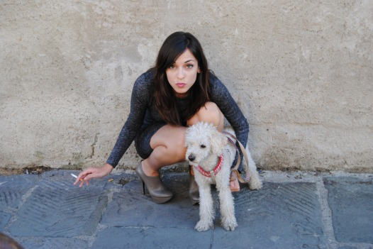 I had to include this shot of Misty with her adorable dog Oliver ... you guys are so cute!