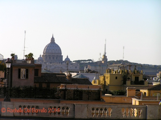 St Peter's unmistakable dome, Roma