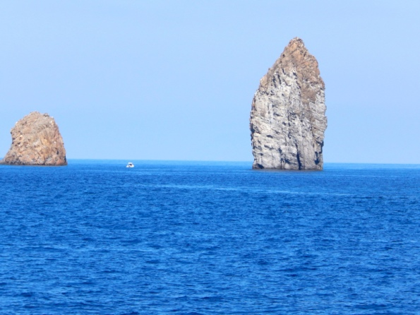 Rock formations off the Aeolian Islands.