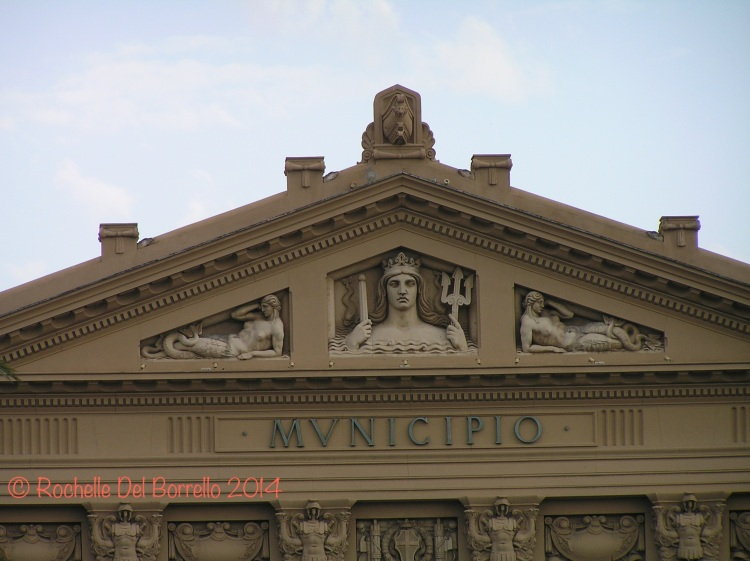 Detail of Messina town hall