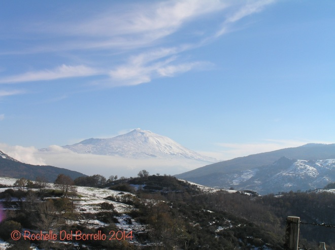 Clear view of Etna in winter
