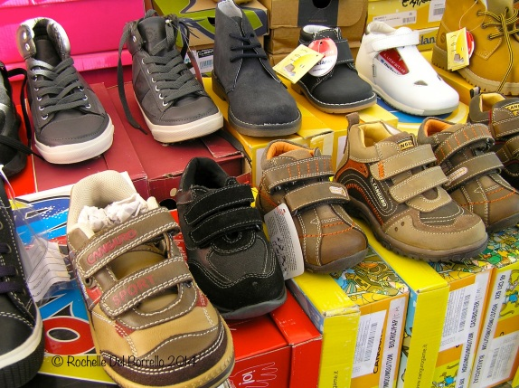 Baby shoes at Sicilian markets
