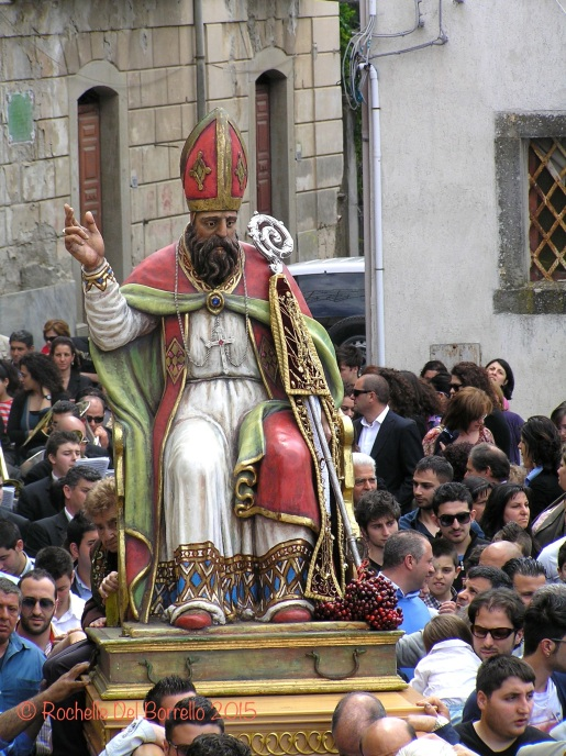 St Leo, bishop of Catania. Procession at Sinagra,ME
