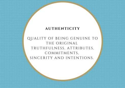 Authenticity Quality of being genuine to
