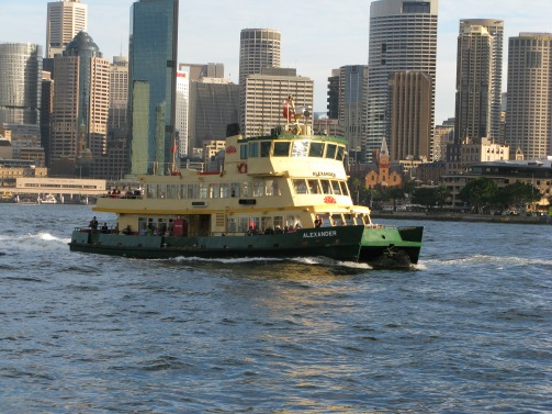 Ferry on Sydney Harbour 2012