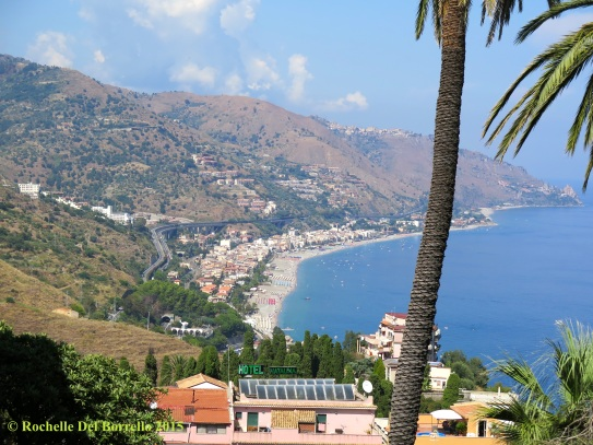 The autostrada to Messina as seen from Taormina