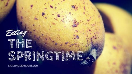 Eating the springtime blog title