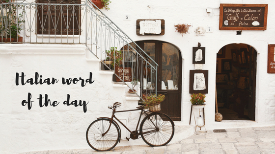 Italian word of the day title
