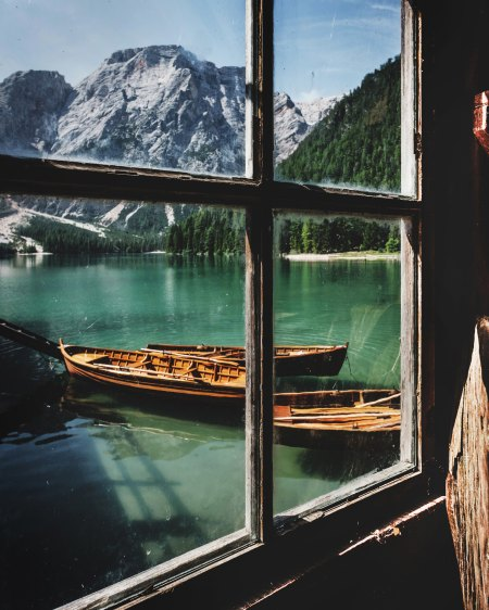 boats and mountains