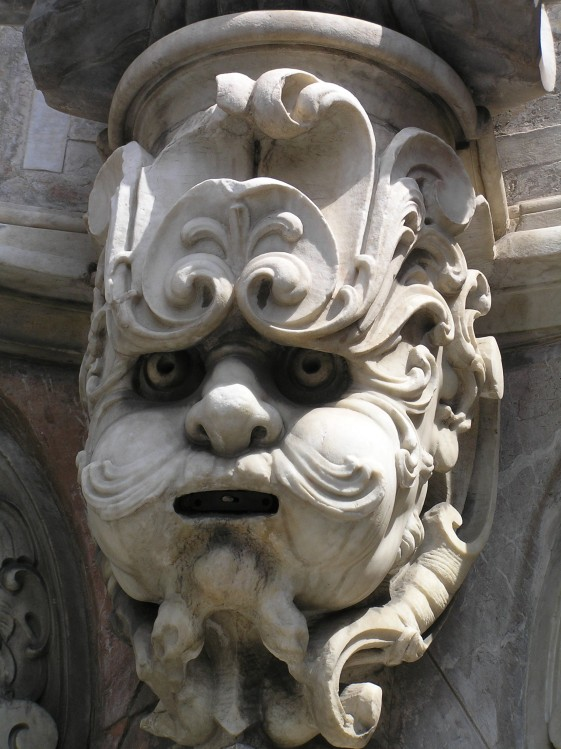 Detail quattro fontane Messina