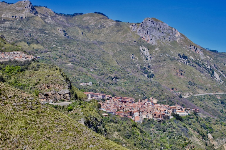 The town of Longi in the Nebrodi Mountians of Messina.